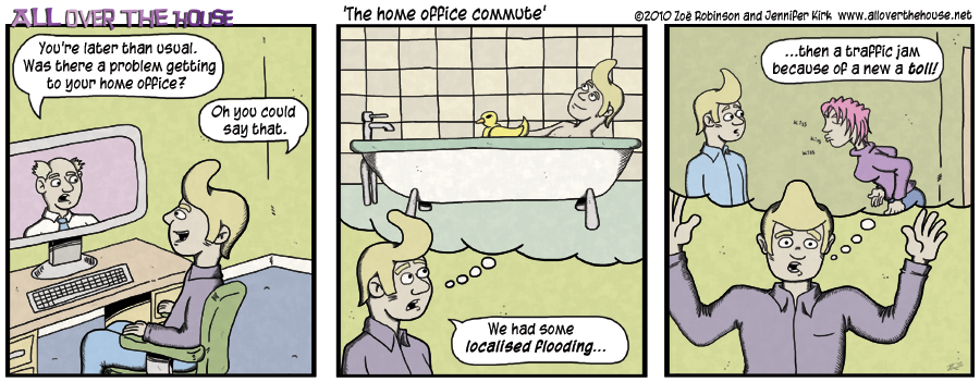 The home office commute