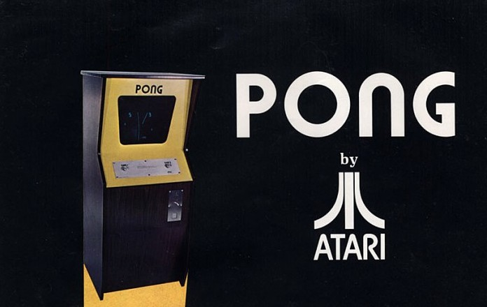 Part of an advert for the original Pong arcade game.