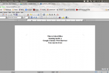 A screenshot of LibreOffice running inside the Google Chrome web browser
