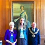 Jennifer with Mayor and Mayoress Spencer