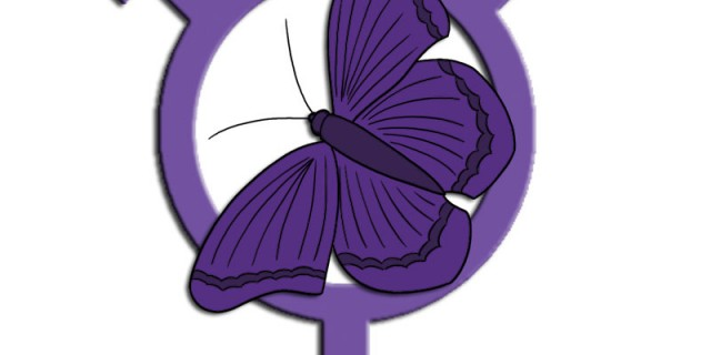 Transgender symbol and butterfly, by Zoe Kirk-Robinson