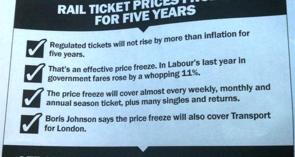 Freezing ticket prices is another way our long term economic plan is working for you.