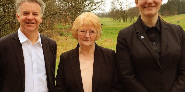 The new trio of Westhoughton North and Chew Moor Councillors
