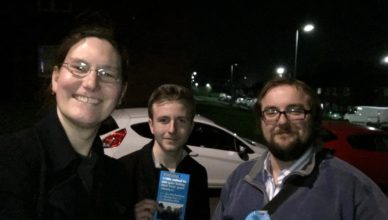 Cllr Zoë Kirk-Robinson at Holden Lea, with Matthew Littler and Cllr Toby Hewitt